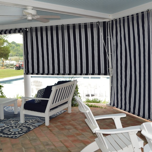 Awnings- Windows, Doors, Porch Roll Up Curtains In