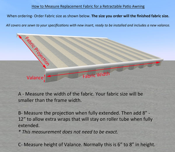 Replacement Fabric For Patio Amp Retractable Awnings All