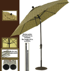 Patio Umbrella - For custom vents and graphic options